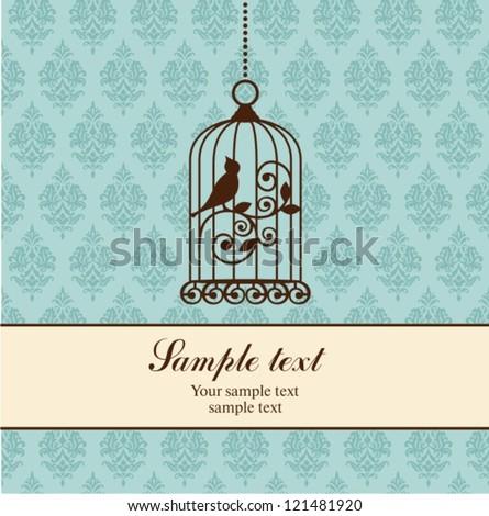 birdcage - stock vector