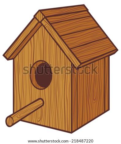 birdhouse (nesting box, birdhouse) - stock vector