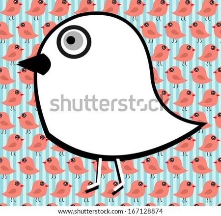 Birds Abstract  Backgrounds Vector  - stock vector