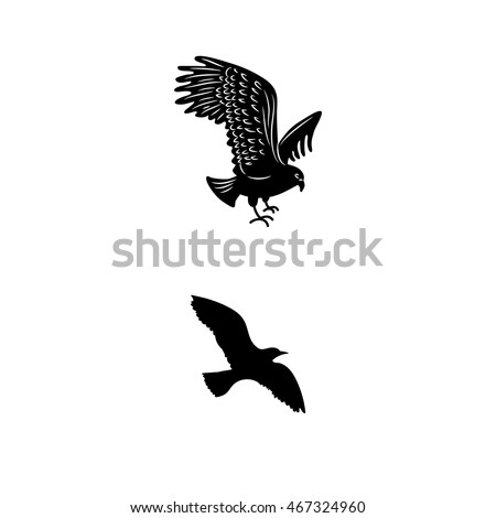 Birds Flying Silhouette Stock Images RoyaltyFree Images