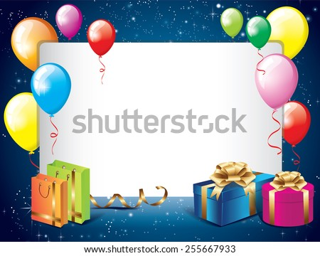 birthday background balloons gifts stock vector royalty free