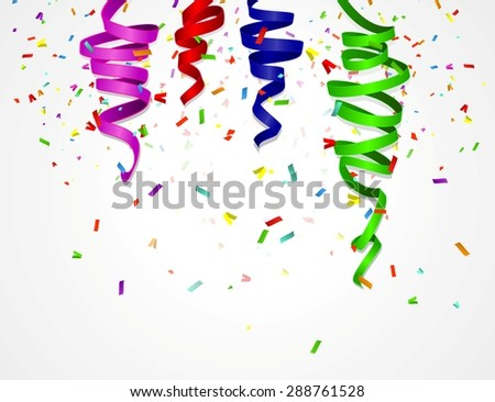 birthday background with colorful balloons