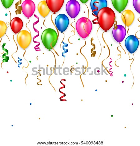 Birthday balloons background. Vector illustration eps 10 format.