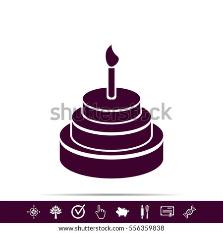 happy birthday written in lit candles on colorful background birthday ...
