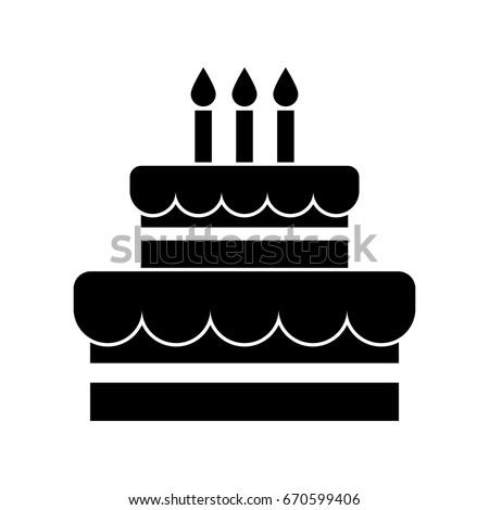 Birthdaycake Icon Stock Photo Photo Vector Illustration