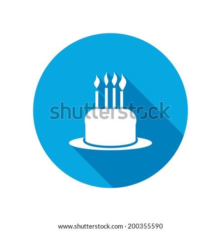 Birthday Cake Icon Confectionery Baking Symbol Stock Vector