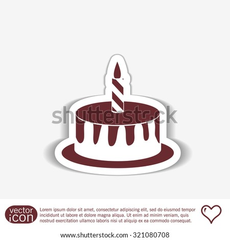 birthday cake icon. symbol of cake. Celebrating the birthday of the loaf .