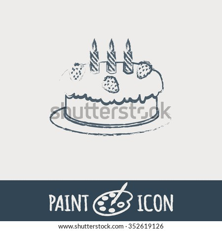 Birthday Cake Icon Symbol Cake Celebrating Stock Vector 2018