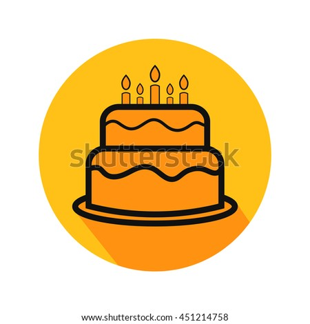 Happy Birthday Vector Line Icons Birthday Stock Vector 352941308