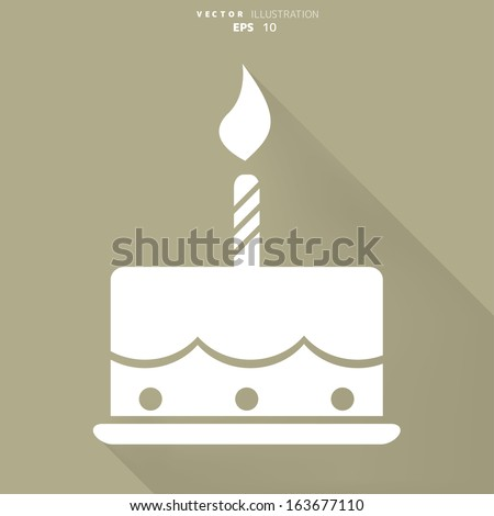 ... birthday cake flat icon with long shadow happy birthday birthday