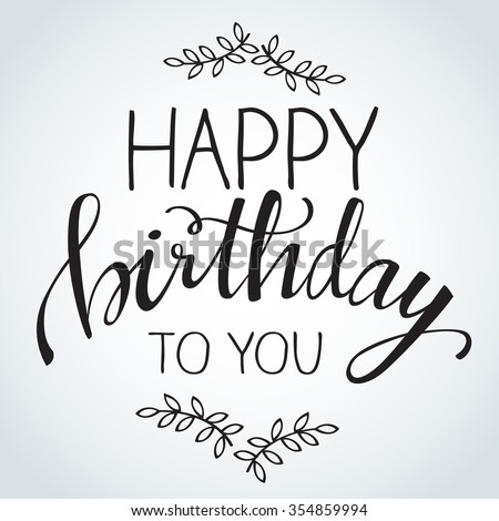 Birthday Calligraphy : Vector Illustration - stock vector