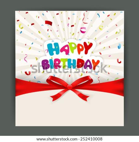 Birthday Card Design Images RoyaltyFree Images Vectors – Birthday Card Design
