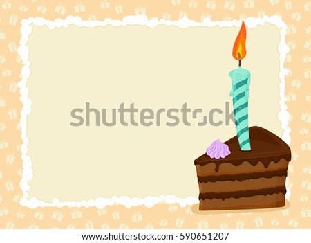 Happy Birthday Card Photos RoyaltyFree Images Vectors – Birthday Cake Card Template