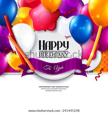 Happy Birthday Card Images RoyaltyFree Images Vectors – Birthday Card with Pictures