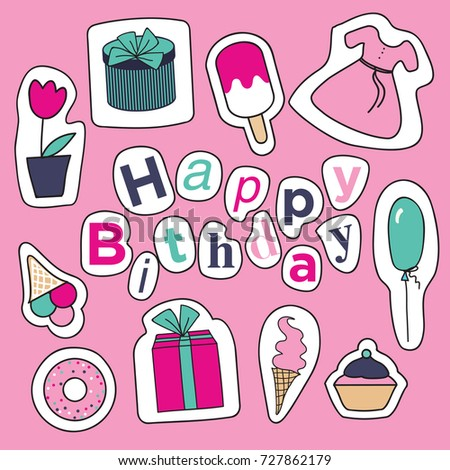 Birthday card sketches cute wishes stock vector 727862179 shutterstock birthday card with sketches of cute wishes bookmarktalkfo Choice Image