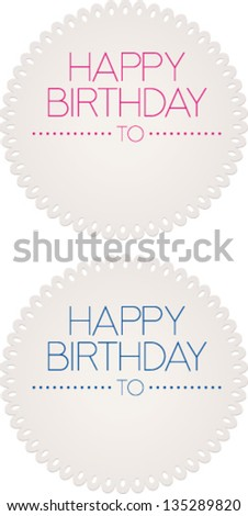 Birthday cards - stock vector