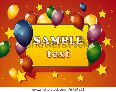 Birthday cards on blue background. - stock vector
