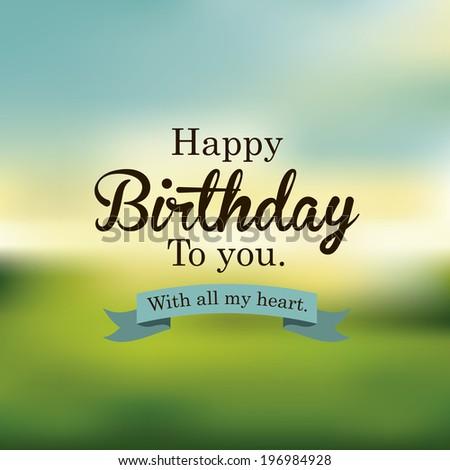 Birthday design over blur background, vector illustration - stock vector
