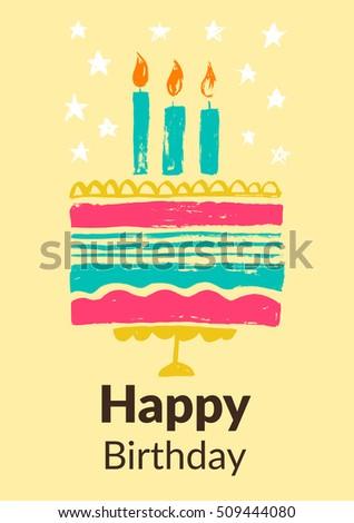 Birthday greeting card vector illustrations website stock vector birthday greeting card vector illustrations for website banners greeting cards invitations bookmarktalkfo Choice Image