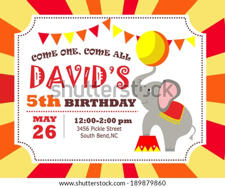 Birthday invitation stock vector 189879860 shutterstock birthday invitation stopboris Gallery