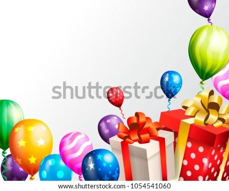 Birthday invitation card birthday background stock vector 1054541060 birthday invitation card birthday background stopboris Gallery