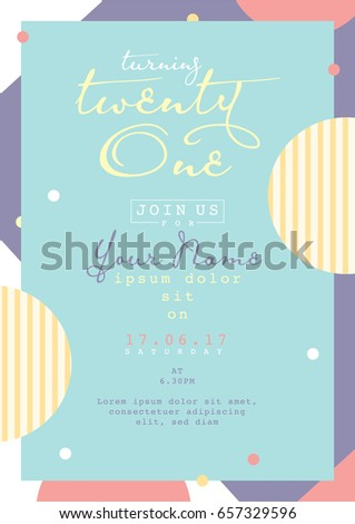 Birthday invitation card design card template stock photo photo birthday invitation card design card template abstract geometrical background graphic design layout stopboris Gallery