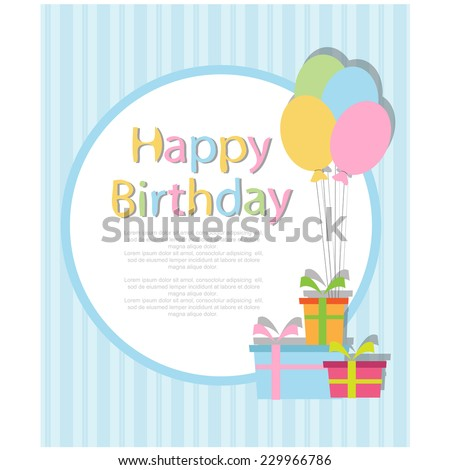 Birthday invitation vector stock vector 229966786 shutterstock birthday invitation vector stopboris Image collections