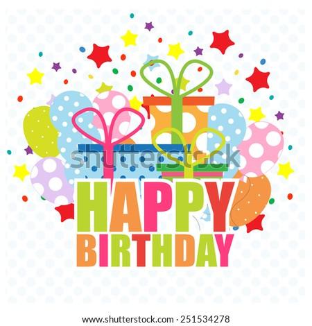 Birthday Invitation. vector illustration - stock vector
