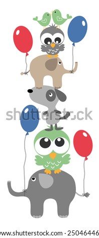 birthday or wall decoration - stock vector