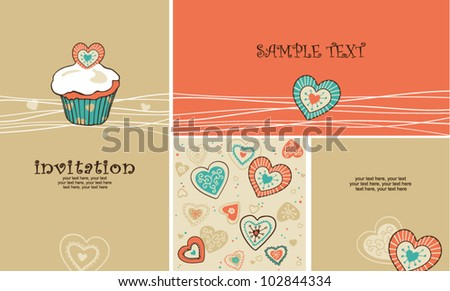 birthday or wedding cards with copy space