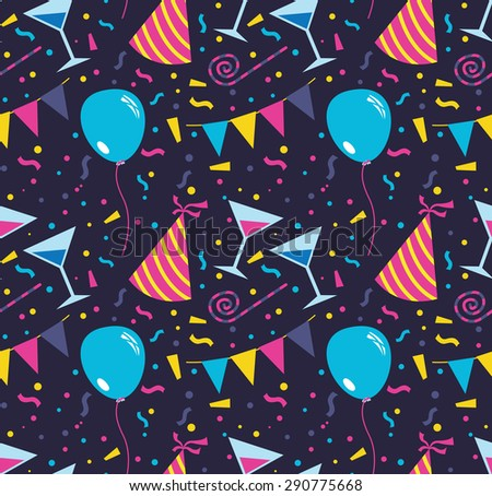 birthday party background - stock vector