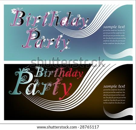 birthday party invitation - stock vector
