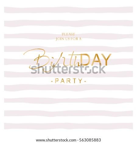 birthday party invitation on hand drawnのベクター画像素材 563085883