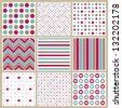 Birthday pattern collection - stock vector