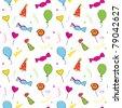 Birthday seamless wallpaper. Vector - stock vector