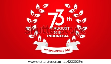 Birthday Special 73 Years Happy Independence Indonesia