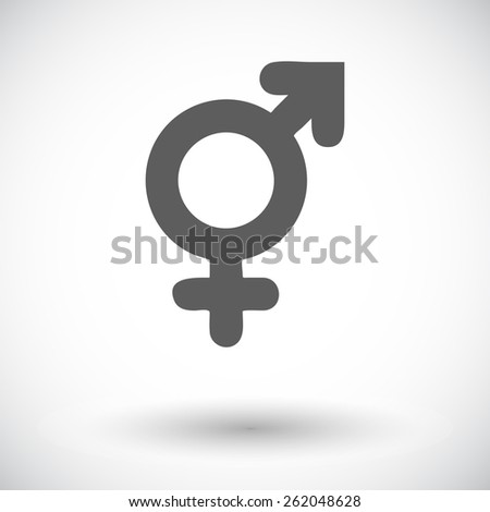 Bisexuals sign. Single flat icon on white background. Vector illustration. - stock vector