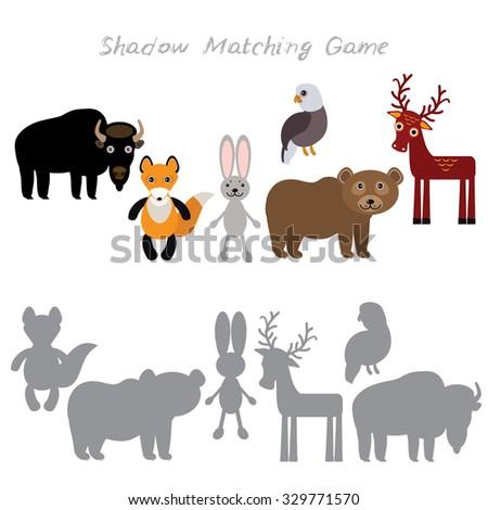 Bison fox hare rabbit eagle bear deer isolated on white for Porte logique