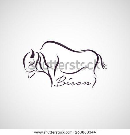 Bison logo vector - stock vector