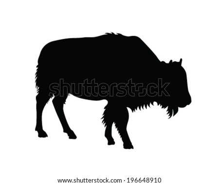 bison vector silhouette