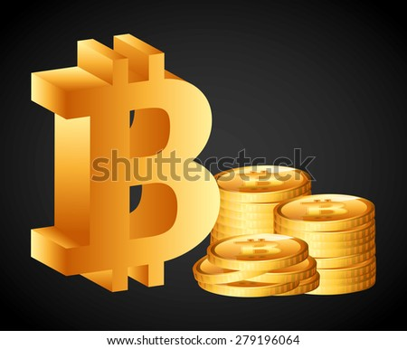 bit coin design, vector illustration eps10 graphic