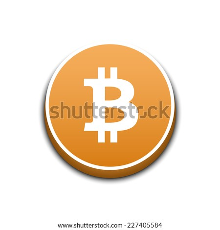 Bitcoin crypto currency. Vector illustration - stock vector