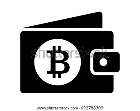 Bitcoin Cryptocurrency Crypto Currency Digital Wallet Flat Vector Icon For Apps And Websites