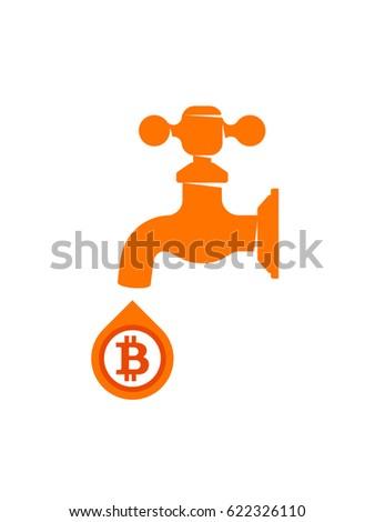 Bitcoin Faucet Vector Illustration Stock Vector 622326110 - Shutterstock