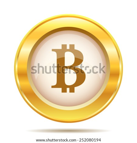 Bitcoin icon. Internet button on white background. EPS10 vector.