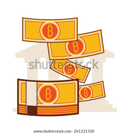 Bitcoin Paper Currency - stock vector