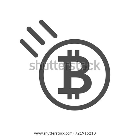 Bitcoin Sign Icon Price Go Down Stock Vector Hd Royalty Free