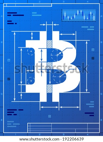 Bitcoin sign like blueprint drawing stylized vectores en stock bitcoin sign like blueprint drawing stylized drafting of money symbol on blueprint paper vector malvernweather Gallery