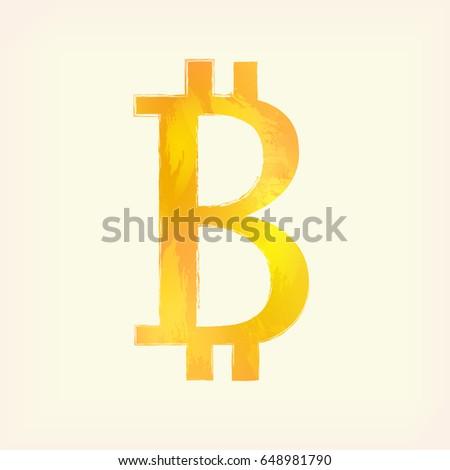 Transparent Bitcoin Sign Icon Vector Icon Stock Vector ...