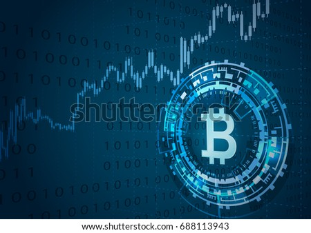 Bitcoin Symbol Price Chartcryptocurrency Concept Stock Vector Hd